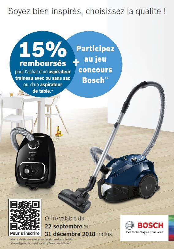 15% REMBOURSES pour l'achat d'un aspirateur