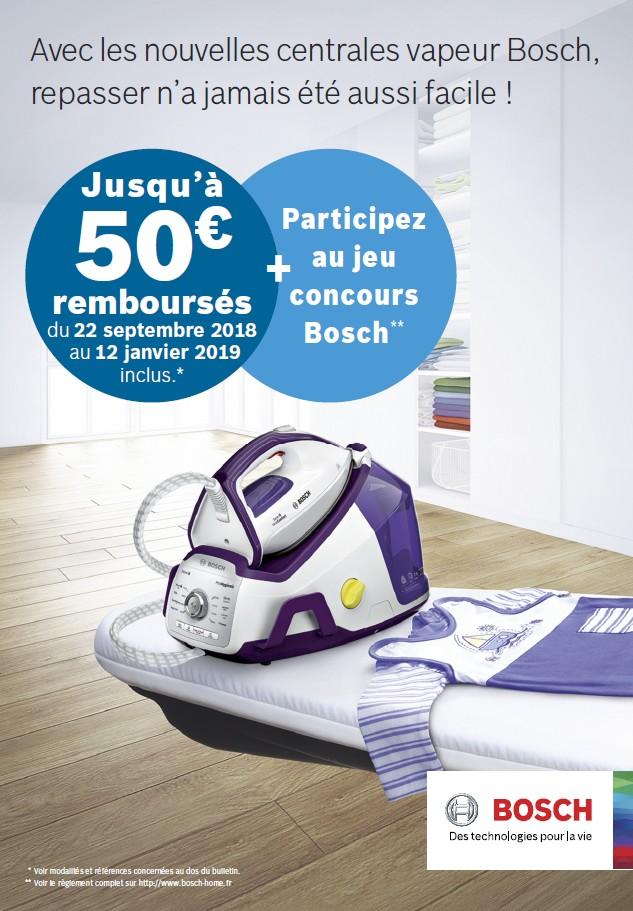 JUSQU'A 50€ REMBOURSES POUR L'ACHAT D'UNE CENTRALE VAPEUR