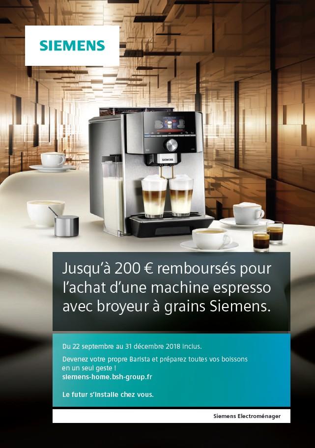 JUSQU'A 200€ REMBOURSES POUR L'ACHAT D'UNE MACHINE ESPRESSO AVEC BROYEUR A GRAINS