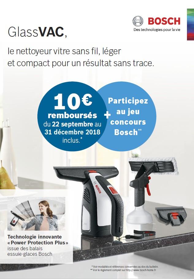 10€ REMBOURSES POUR L'ACHAT D'UN NETTOYEUR VITRE SANS FIL