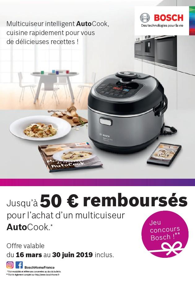 JUSQU'A 50€ REMBOURSES POUR L'ACHAT D'UN MULTICUISEUR AUTOCOOK