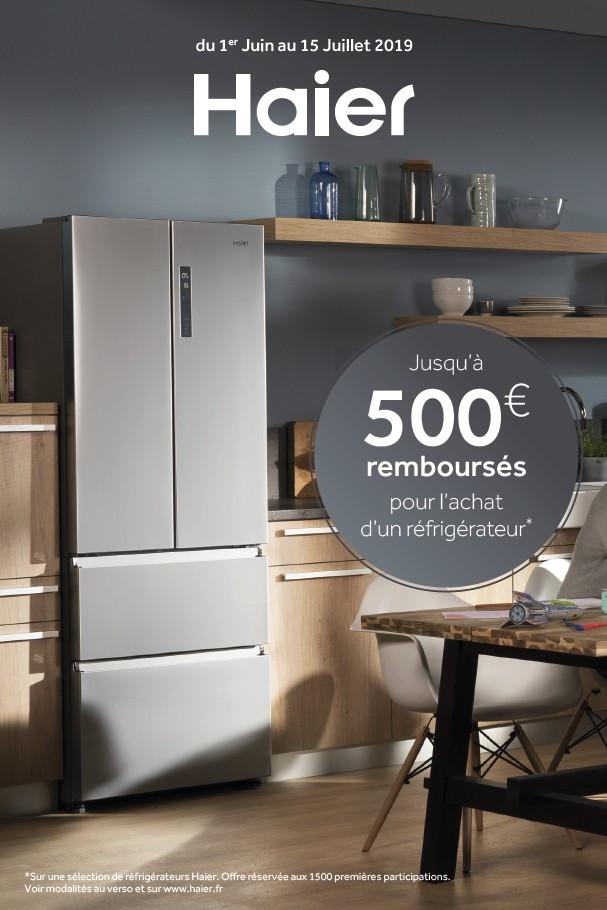 JUSQU'A 500€ REMBOURSES POUR L'ACHAT D'UN REFRIGERATEUR HAIER