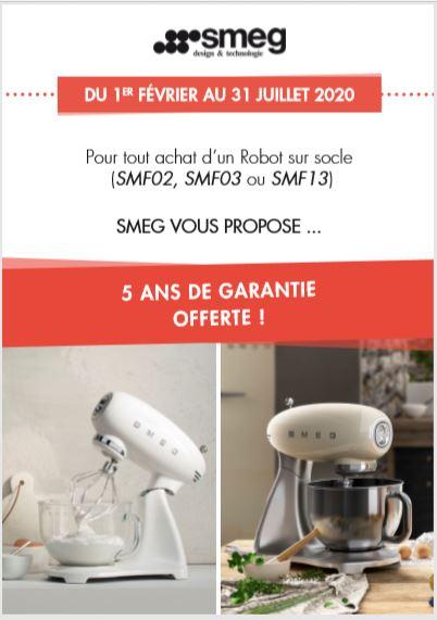 Pour tout achat d'un Robot sur socle (SMF02, SMF03 ou SMF13)  5 ANS DE GARANTIE OFFERTE !