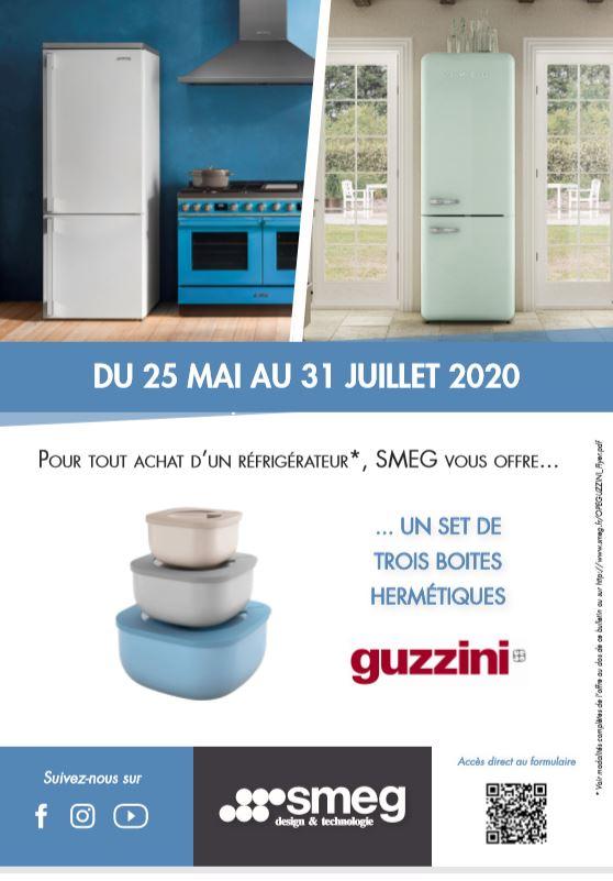 Pour tout achat d'un réfrigérateur, SMEG vous offre... UN SET DE TROIS BOITES TROIS BOITES HERMÉTIQUES