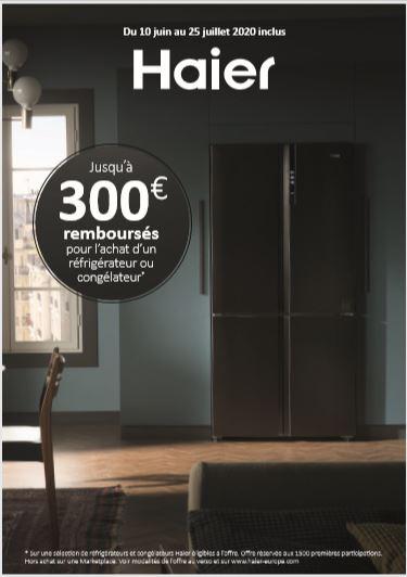 Offre de remboursement : Jusqu'à 300€ remboursés  pour tout achat d'un réfrigérateur ou congélateur éligible à l'offre